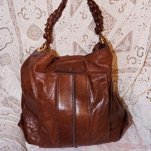 Chloe Heloise Bag large chestnut brown EUC